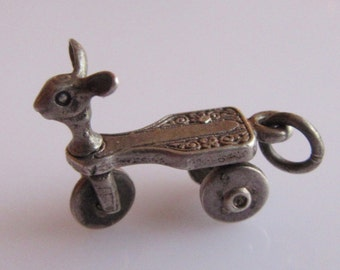 Silver Moving Childs Tricycle Charm