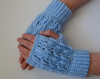 Fingerless Glove Crochet Pattern - Timeless Texture Fingerless Gloves Crochet Pattern #407 - Instant Download PDF
