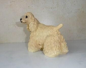 Vintage Cocker Spaniel Figurine Statue Standing Medium Size 1991