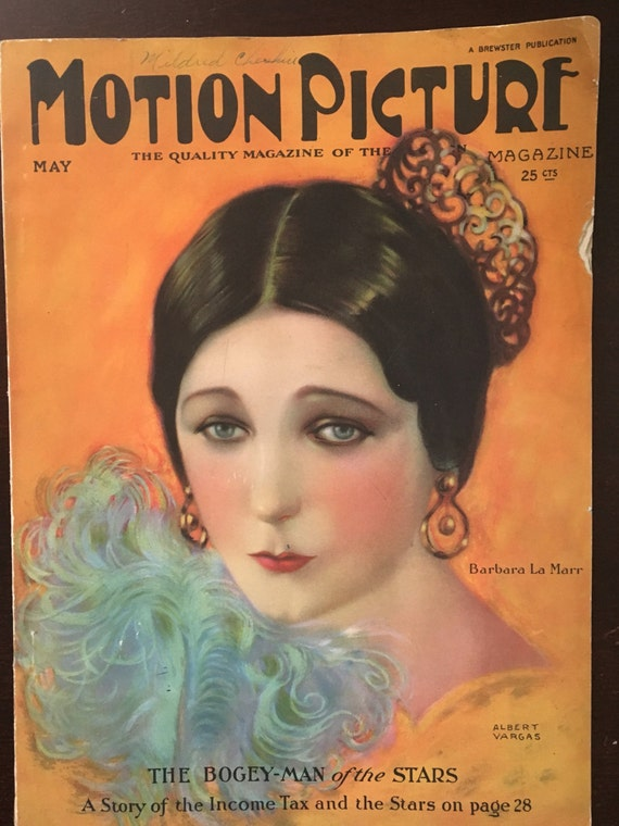 Vintage Magazine Motion Picture May 1924 Vargas Cover