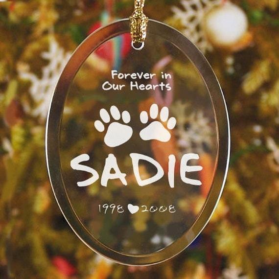 Items Similar To Personalized Pet Memorial Ornament
