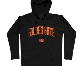 Golden Gate SF Hoodie - Men S M L XL 2x 3x - Gift, Sweatshirt, Golden Gate Hoody, San Francisco, Golden Gate Bridge Hoodie, 415  - 4 Colors