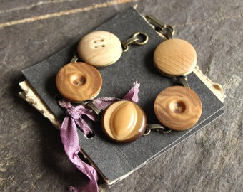 Antique Button Bracelet, vegetable ivory, jewelry, vintage, victorian, tagua nut buttons, 1900's