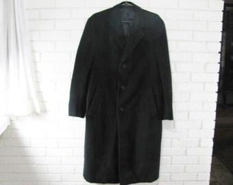 Ralph Lauren BLACK Blue Label cashmere and lamb's wool coat size 40R