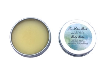 Small / Jasper  1/2 oz Body Balm, Herbal Salve for hands and body - 0.5 oz tin