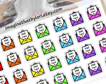 Mail card reminder planner stickers