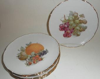 Vintage Set 6 SCHUMANN Bavarian Fruit/Dessert Plates