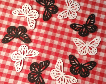 """Butterflies, Large ~ 1.75"""" Monarch Butterfly Cut-Outs, Color on Both Sides, Butterfly Party, Butterfly Wedding, Baby Shower, Craft Supply"""