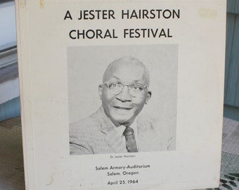 Jester Hairston Choral Festival Record, Connelly Recordings, Inc. Salem Oregon, 33 1/3 RPM