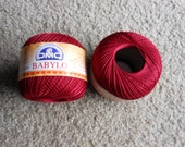 DMC BABYLO crochet thread size 10...deep red