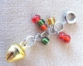 Handcrafted Christmas Jingle Bell Add a Charm, Handmade Original Design Accessory, Festive Holiday Bell Accent, Simple Unique Ladies Gift