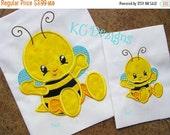 50% OFF SALE Baby Bug Bee Machine Applique Embroidery Design - 4x4, 5x7 & 6x8
