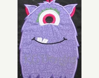 50% OFF SALE Purple Monster Machine Applique Embroidery Design - 5x7 & 6x8
