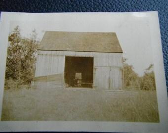 Vintage Snapshot Photo - John's Barn