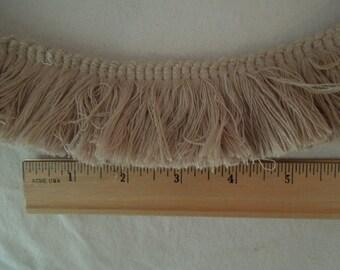 Large Cotton Brush Fringe - Beige