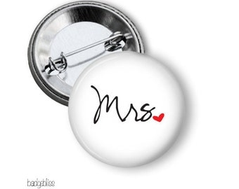Mr or Mrs, hens, bachelorette, bachelor party pinback button badge