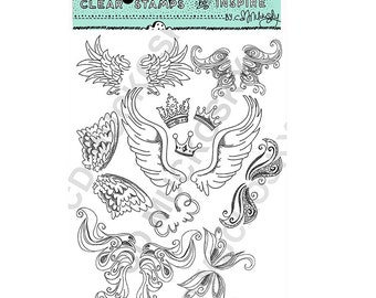 Set Free 6×8 Clear Stamps by CD Muckosky