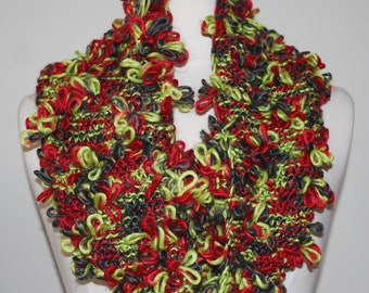 Multicolor knit infinity scarf