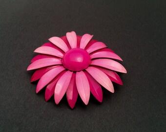 Enamel Flower Brooch, Floral Design, Vintage Figural, Wedding Bouquet, HALF OFF Sale, Item No. B663