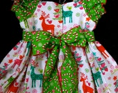 Beautiful Parley Ray Vintage Reindeer Candy Cane Christmas Tree Dress