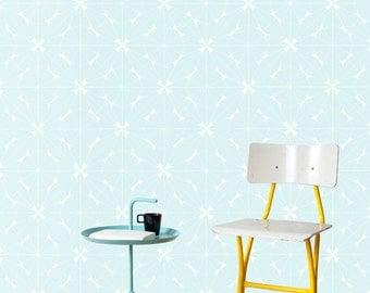 LACE Wallpaper / blue