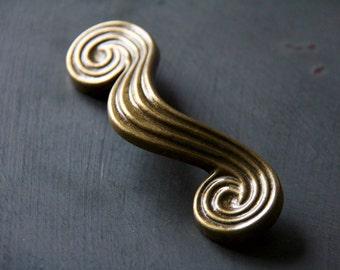 Vintage Swirled Decorative Drawer Pulls Set of 2