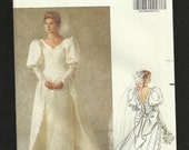 Summer SALE Butterick 5206 Victorian Inspired Wedding Gown with Pencil Skirt and Detachable Train Sizes 6-12