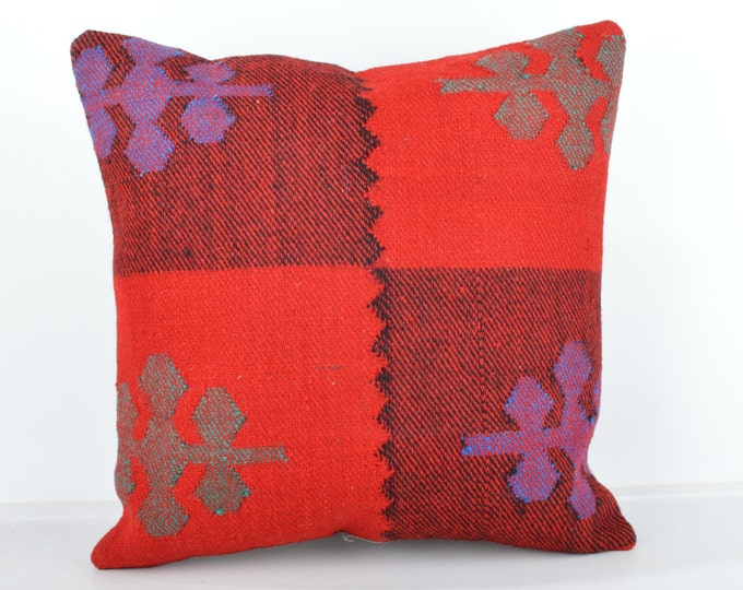 Kilim pillow, Kilim Pillow Cover k436, Turkish Pillow, Kilim Cushions, Bohemian Decor, Moroccan Pillow,  Bohemian Pillow, Turkish Kilim