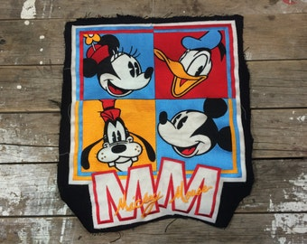 Huge Mickey Mouse sew on patch, Disney, Minnie, Goofy, Donald Duck, badge, appliqué, sewing, campfire blanket