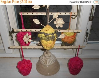 Christmas in July Handmade ornament. Christmas Pine Cone. Crochet Christmas Ornaments, EU Seller