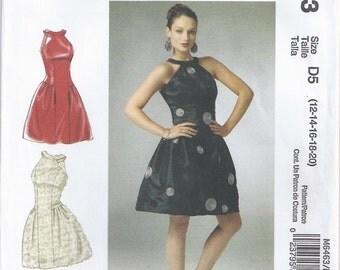Dress With Boned Bodice Skirt Cut On Crosswise Grain Stephanie O Size 12 14 16 18 20 Sewing Pattern Generation Next McCalls M6463 Plus Size