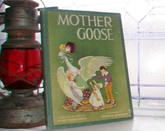 Mother Goose Book Antique 1915 Copy