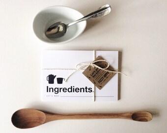 Modern Recipe Cards - Recipe Cards - Housewarming Gift - Set of 10,  4x6 - Minimalist Recipe Cards