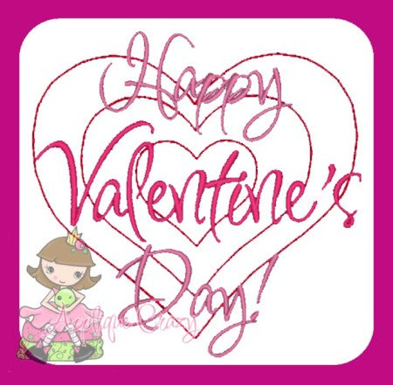 Happy Valentine's Day Embroidery file