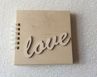 Wooden cover album / blank small album / photo album / scrapbooking album / prints album / love lettersu