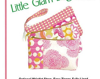 Wristlet Tote Pattern, Pink Sand Beach Designs Pattern Wristlet Bag Little Glam Bag