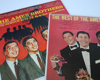 2 Vintage record The Best of The Ames LP  1958,The Ames Brothers 1954