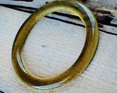 Olive Wine Bangle | Recycled Wine Bottle Bracelet