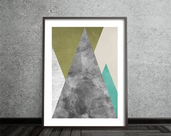 Mid Century, Modern, Minimalist, Contemporary, Abstract Print, Art, Poster