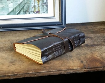Leather Journal, Chestnut Brown, Hand-Bound 4.5 x 6 Journal by The Orange Windmill on Etsy 1623