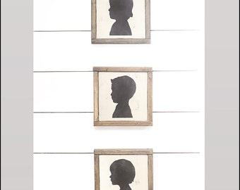Custom Wood Silhouette