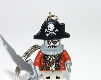 128GB Zombie Pirate USB Flash Drive with Key Chain
