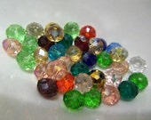 Assorted Rondelle Beads. Set of 50 Assorted Beads.