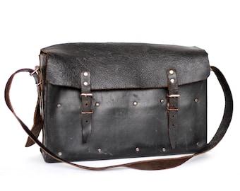 Messenger bag leather postman bag men