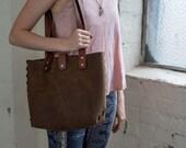 Leather Handbag Medium Si...