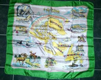 Vintage Arctic Circle souvenir scarf