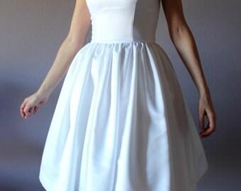Short wedding dress, strapless wedding dress,