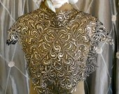 Black and Gold Crocheted Appliques