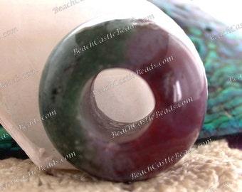 Fancy Jasper Bead, Lavender Green Rust Stone Beads, Extra Large Beads, Large Hole Beads, Semi Precious Stone Beads, Gemstone Beads  SP-254-9