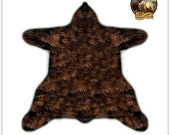 Shaggy Off White Faux Fur Sheepskin   Bear Skin Rug   Accent Throw Rug    Plush